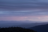 Mount Colong, evening sky