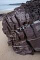 Sigmoidal quartz veins, Nadgee Nature Reserve
