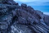 Wave-etched headland, dusk, Nadgee Nature Reserve
