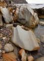 Wave-sculpted boulders