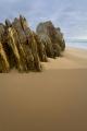 Sand and strata, Mimosa Rocks National Park