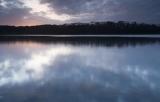 Lake and sunset