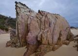 Eroding rock