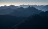 Westwards from Mount Nantes, Fiordland