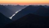 Wet Jacket Arm, twilight, Fiordland