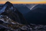 Mount Cusack, twilight, Fiordland
