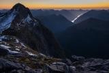 Mount Cusack, twilight, Fiordland