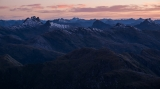 Black Giants skyline, dawn, Fiordland