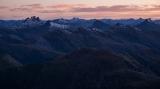 Black Giants skyline, dawn, Fiordland