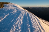Summer snow, Mount Nantes, Fiordland
