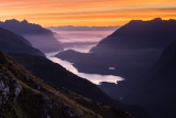 West Arm dawn, Lake Manapouri, Fiordland