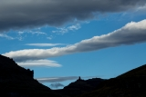 Wind cloud over pinnacle, Garvie Mountains