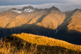 Mount Jackson and the Main Divide, sunset