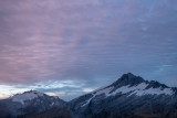 Dusk, Mounts McCullaugh and Mount Hooker