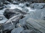 Schist boulders above Marks Flat