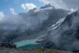 Otoko Glacier lake and Mount Hooker