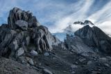Crags below Mount Hooker