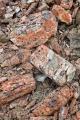 Coloured volcanic stone, Livingstone Mountains