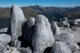 Granite tors, Mount Titiroa, Fiordland