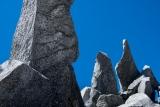 Shattered granite, Mount Titiroa, Fiordland
