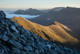 Over Borland Burn, Hunter Mountains, Fiordland