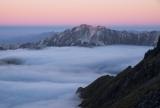 Mount Titiroa, twilight, Fiordland