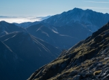 Mount Titiroa shadows, Fiordland