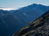 Mount Titiroa shadows, Fiordland