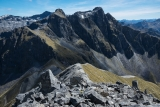 Central Hunter peaks from the east, Fiordland