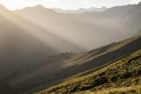 Golden afternoon, Hunter Mountains, Fiordland