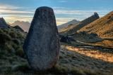 Standing stone, Mount Titiroa, Fiordland