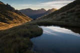 Sunset on Mount Titiroa, Fiordland