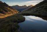Sunset on Mount Titiroa, Fiordland