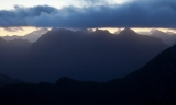 Dawn skyline, Cameron Mountains