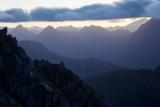 Cameron Mountains skyline, dawn