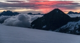 Mt Alice and Mt Earnslaw, dawn