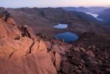 Lakes below Red Mountain at dawn