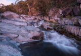 Granite gorge in twilight