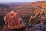 Cliff-edge boulder
