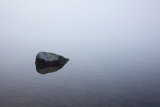 Mountain tarn and mist