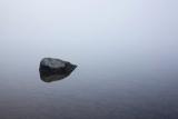 Mountain tarn and mist