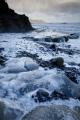 Wild foaming seas, South Coast
