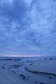 Stream, beach, dusk, West Coast