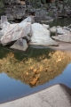 Rockpile and reflection