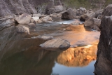 Sunset reflection, Colo River gorge