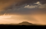 Sunset storm, Mt Yengo
