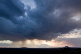 Storm, sunset and Mount Yengo