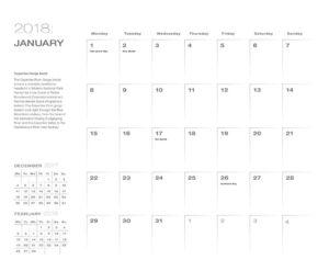 Date page 2018 calendar sRGB